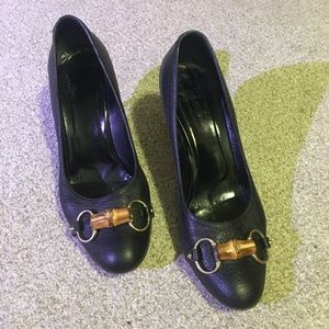 Gucci heels. Black. Size 10. Made in Italy.